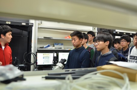 151112 Open lab tour for Daegu Science High School students